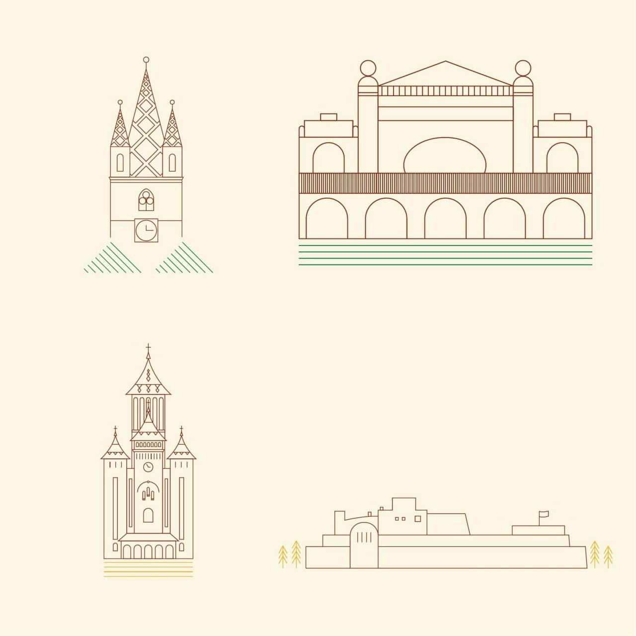 "Free vector ""City Landmarks"""