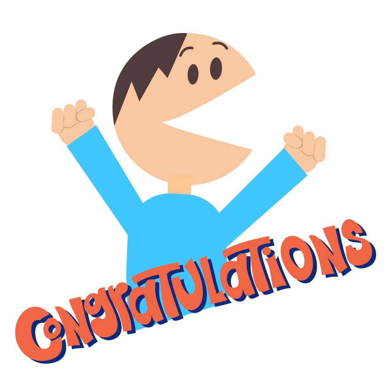 "Free vector ""Man Says Congratulations"""