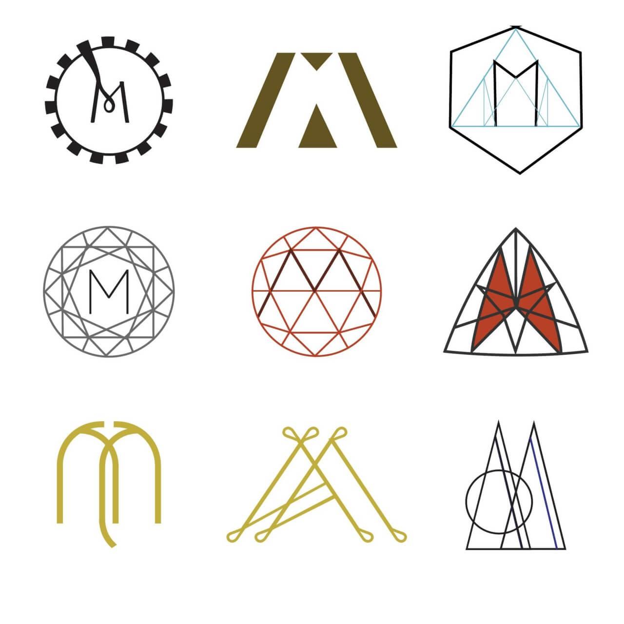 "Free vector ""Letter M Monograms"""