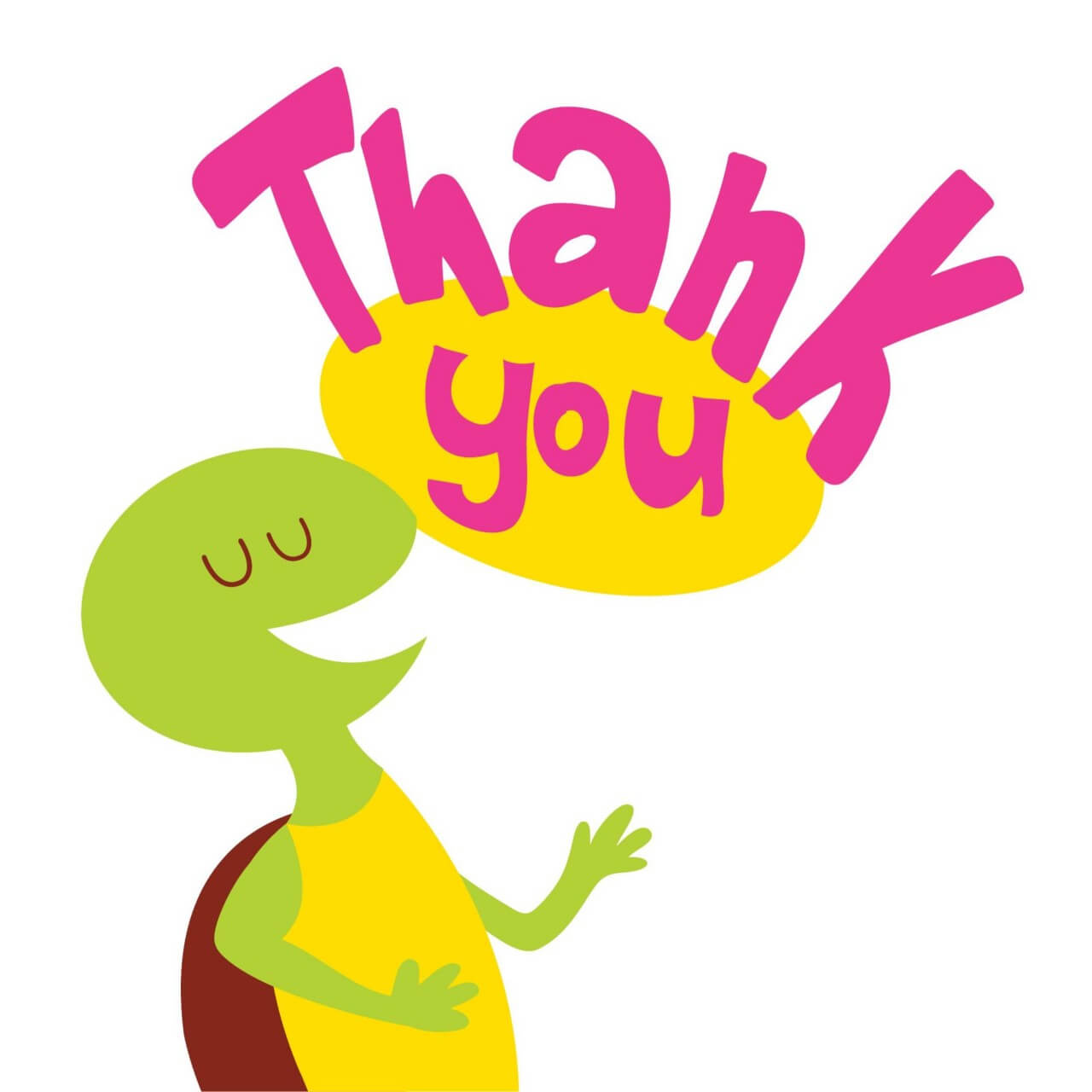 "Free vector ""Turtle Says Thank You"""