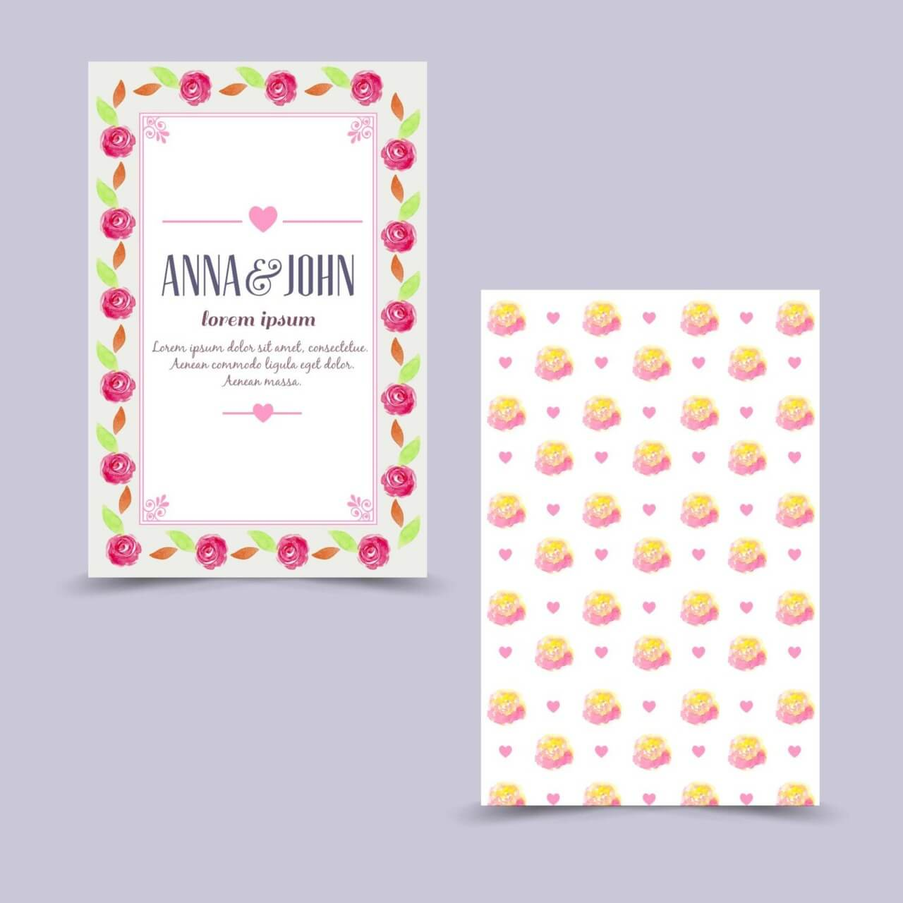 "Free vector ""Invitation card with floral background"""