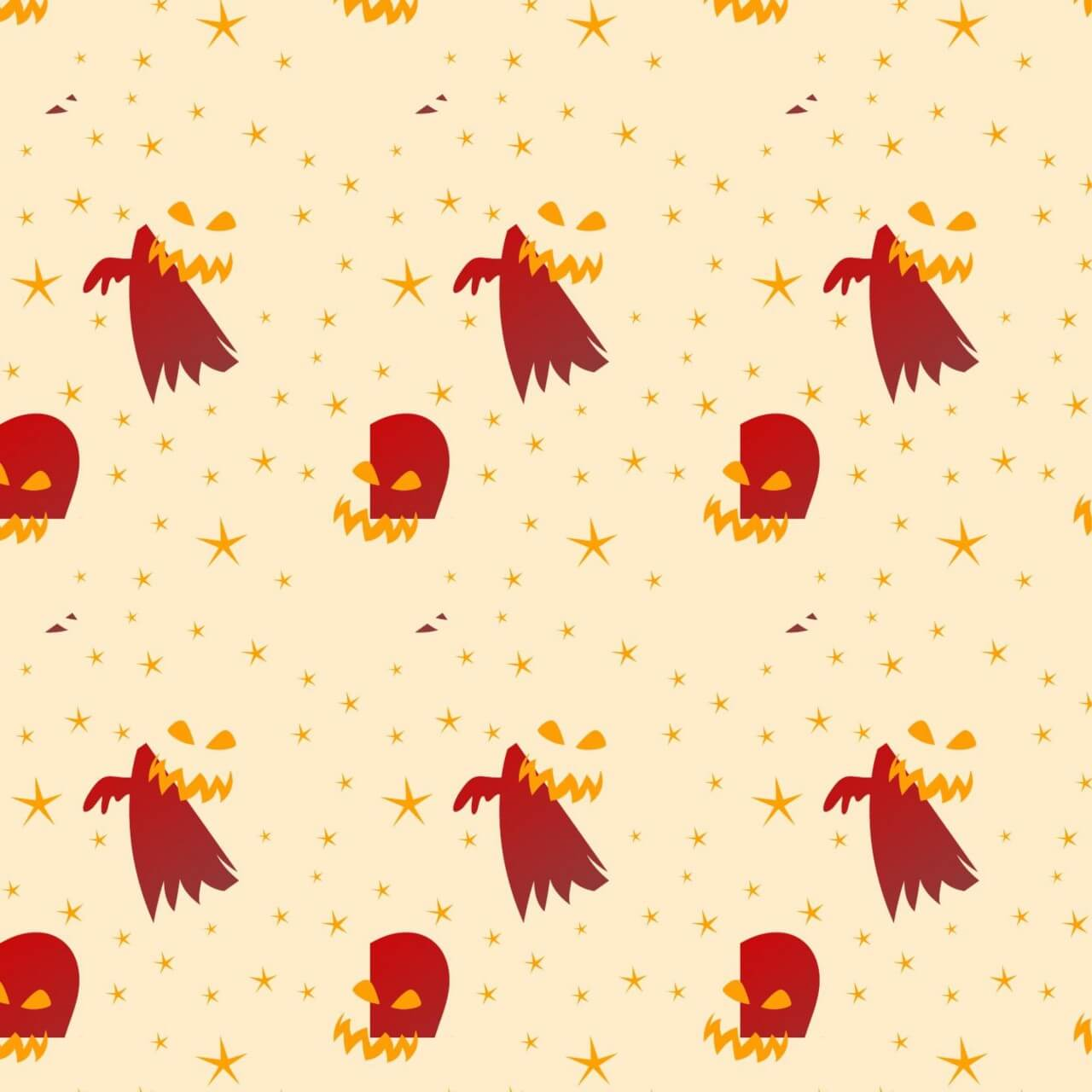 "Free vector ""Halloween background with ghosts"""