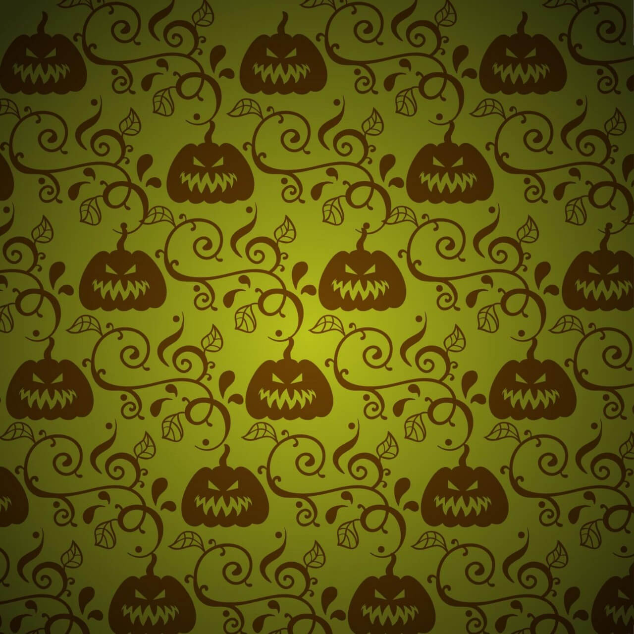 "Free vector ""Pumpkin with leaves on green background"""
