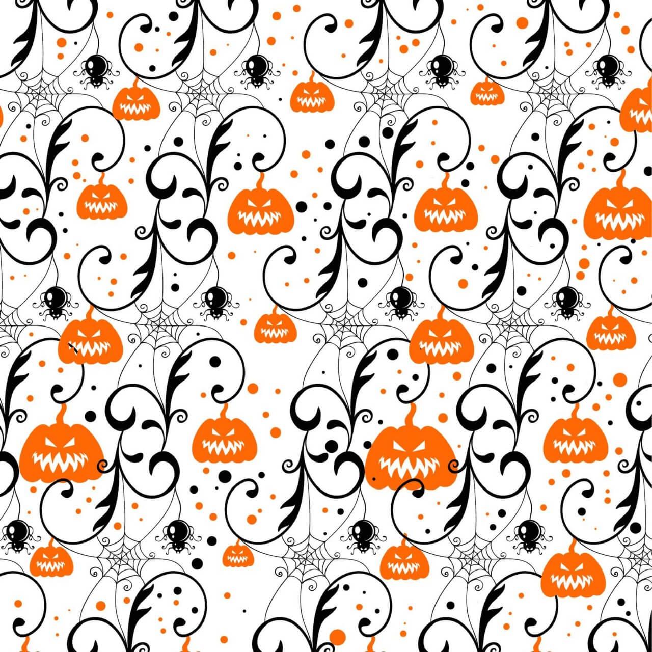 "Free vector ""Halloween background with pumpkin"""