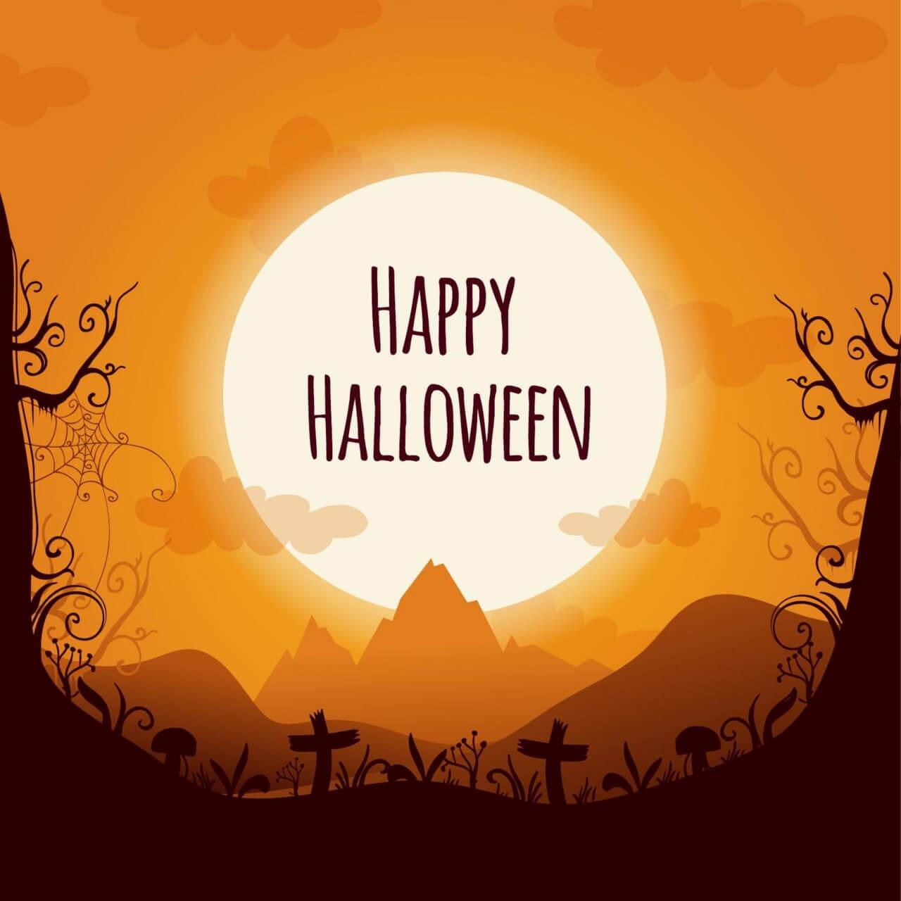 "Free vector ""Halloween landscape """
