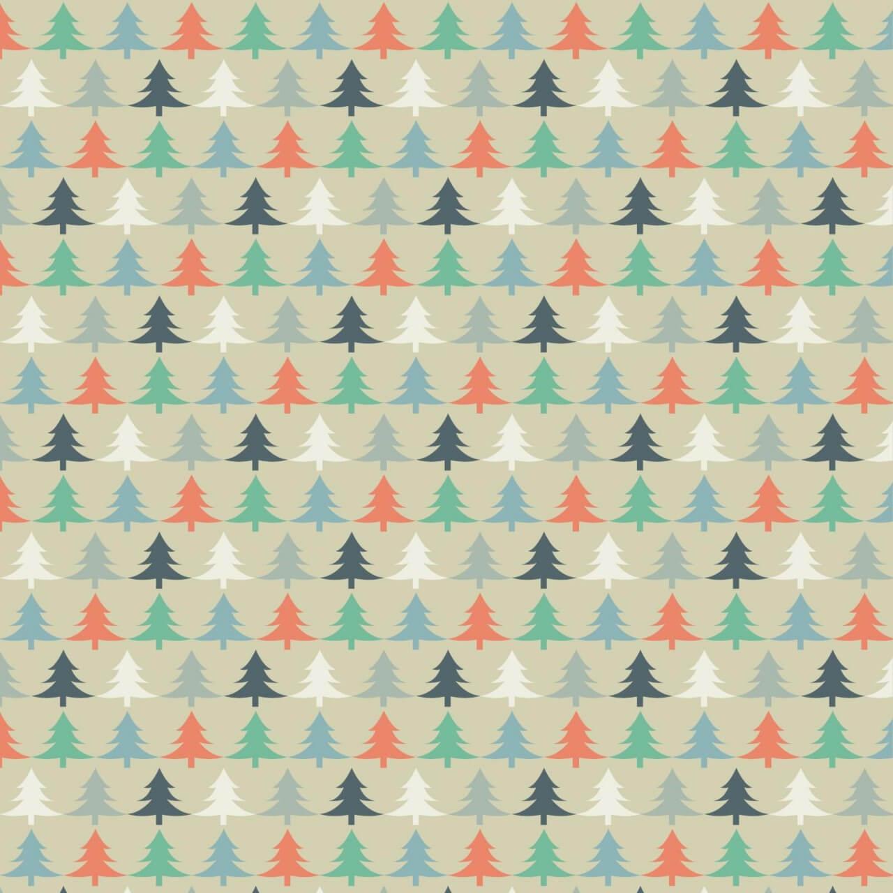 "Free vector ""Christmas tree pattern"""