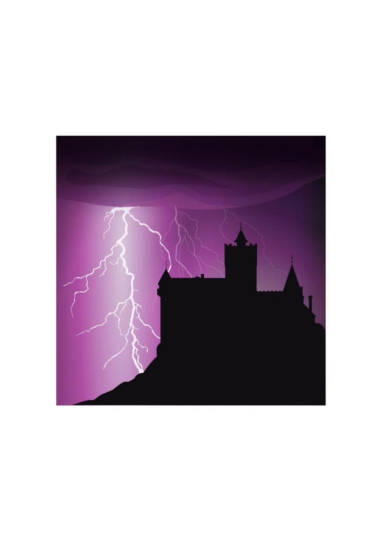 "Free vector ""Halloween castle background"""