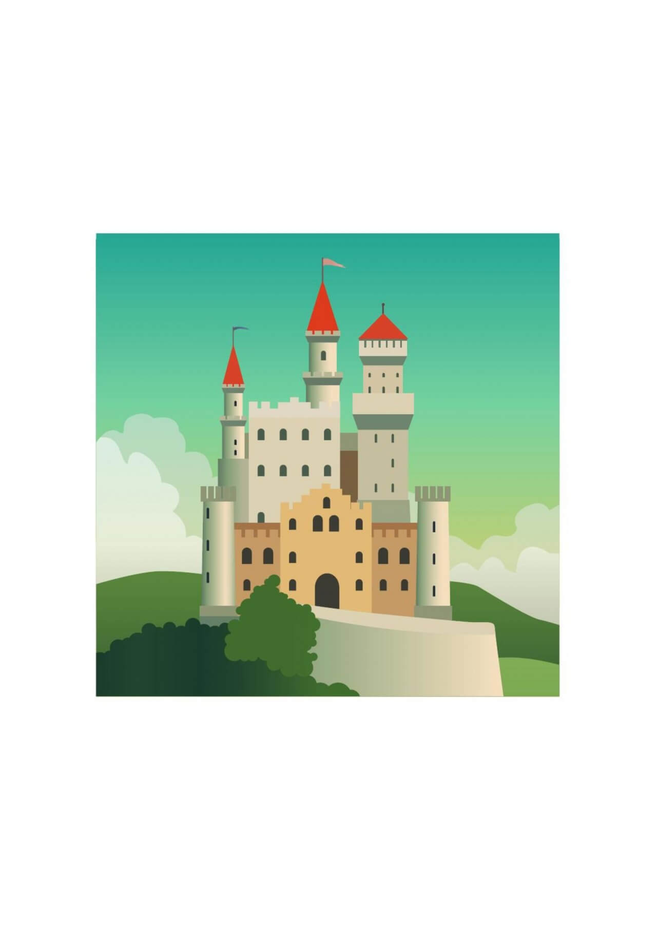 "Free vector ""FairyTale castle"""