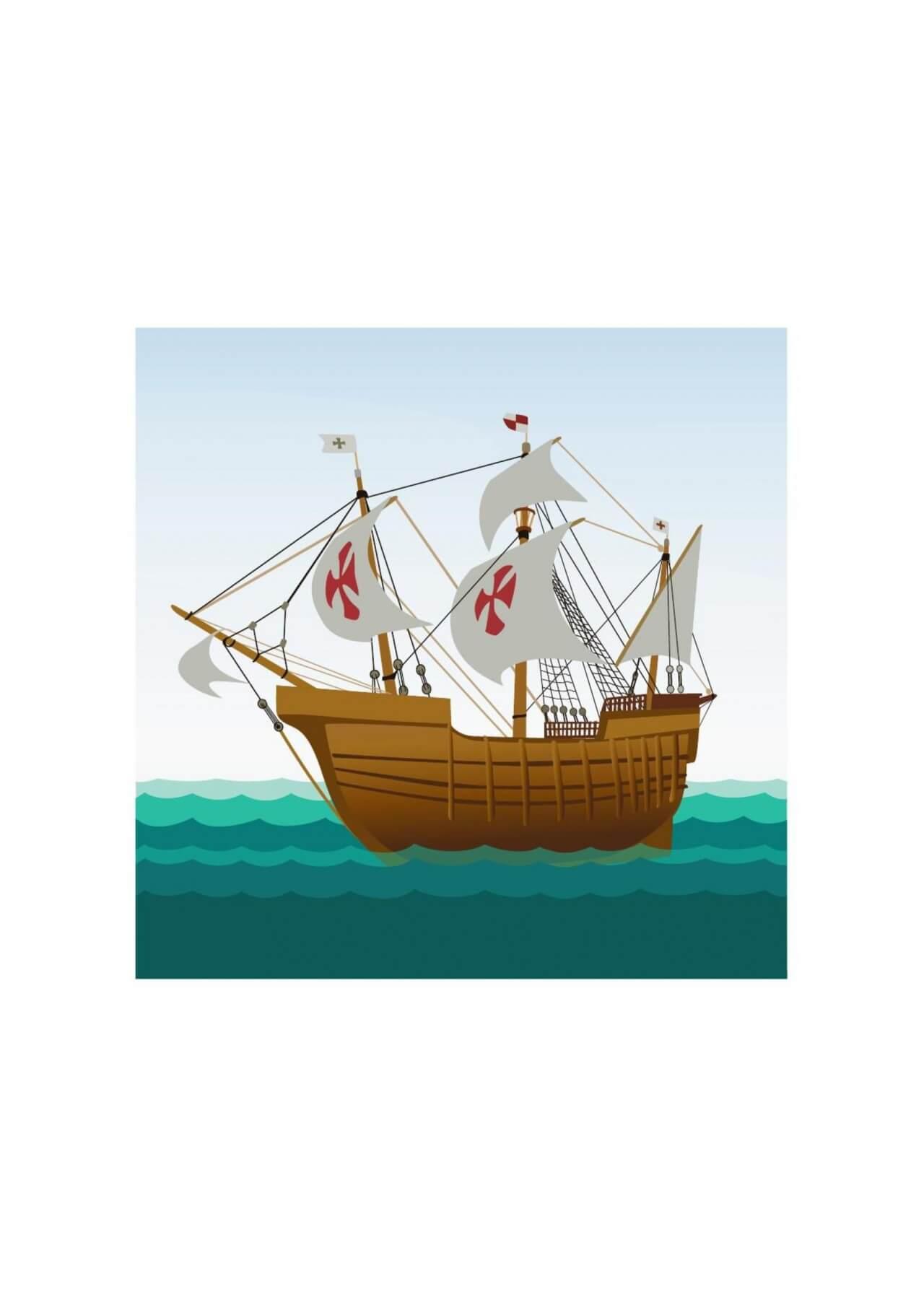 """Free vector """"Sailing ship"""""""