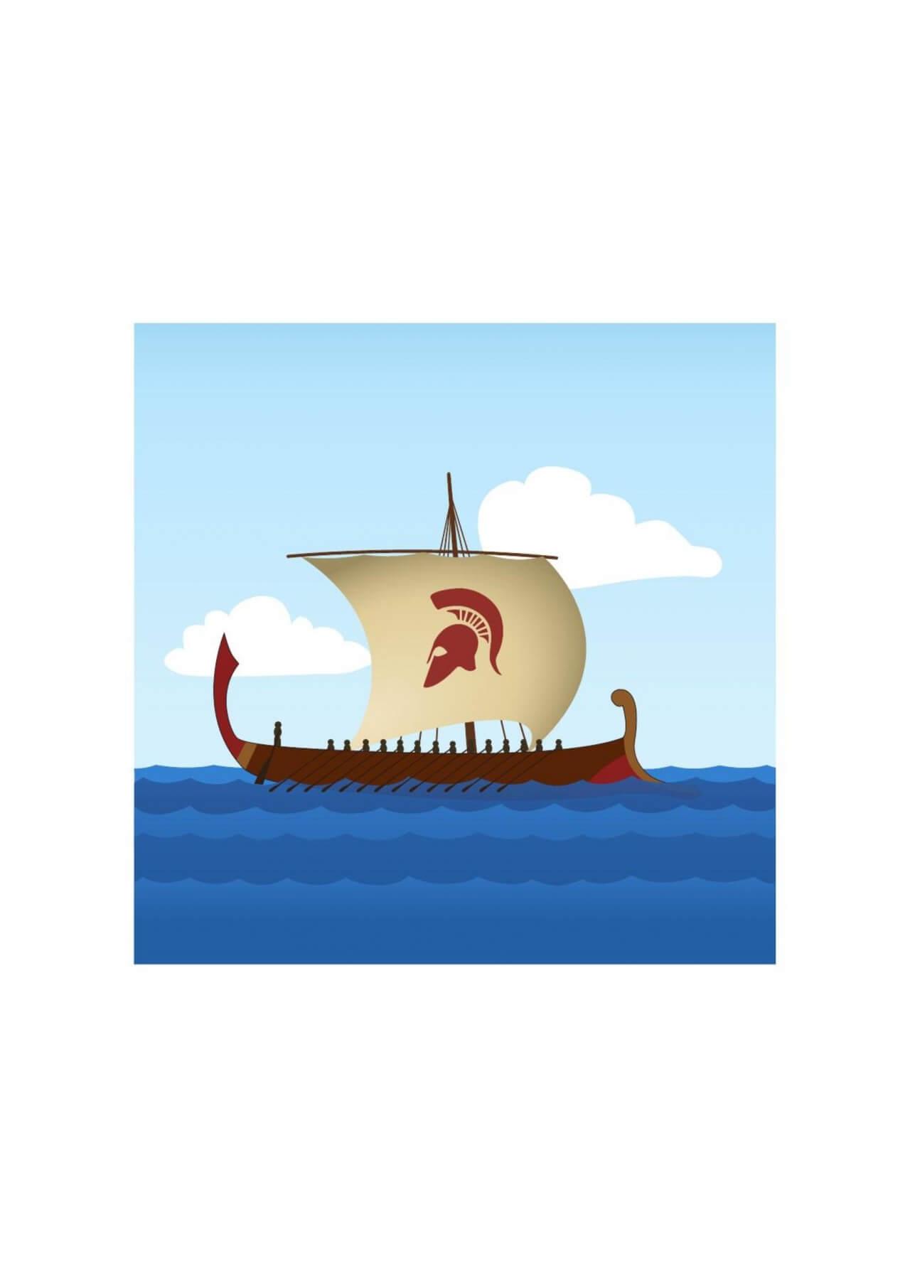"Free vector ""Greek Sailboat"""
