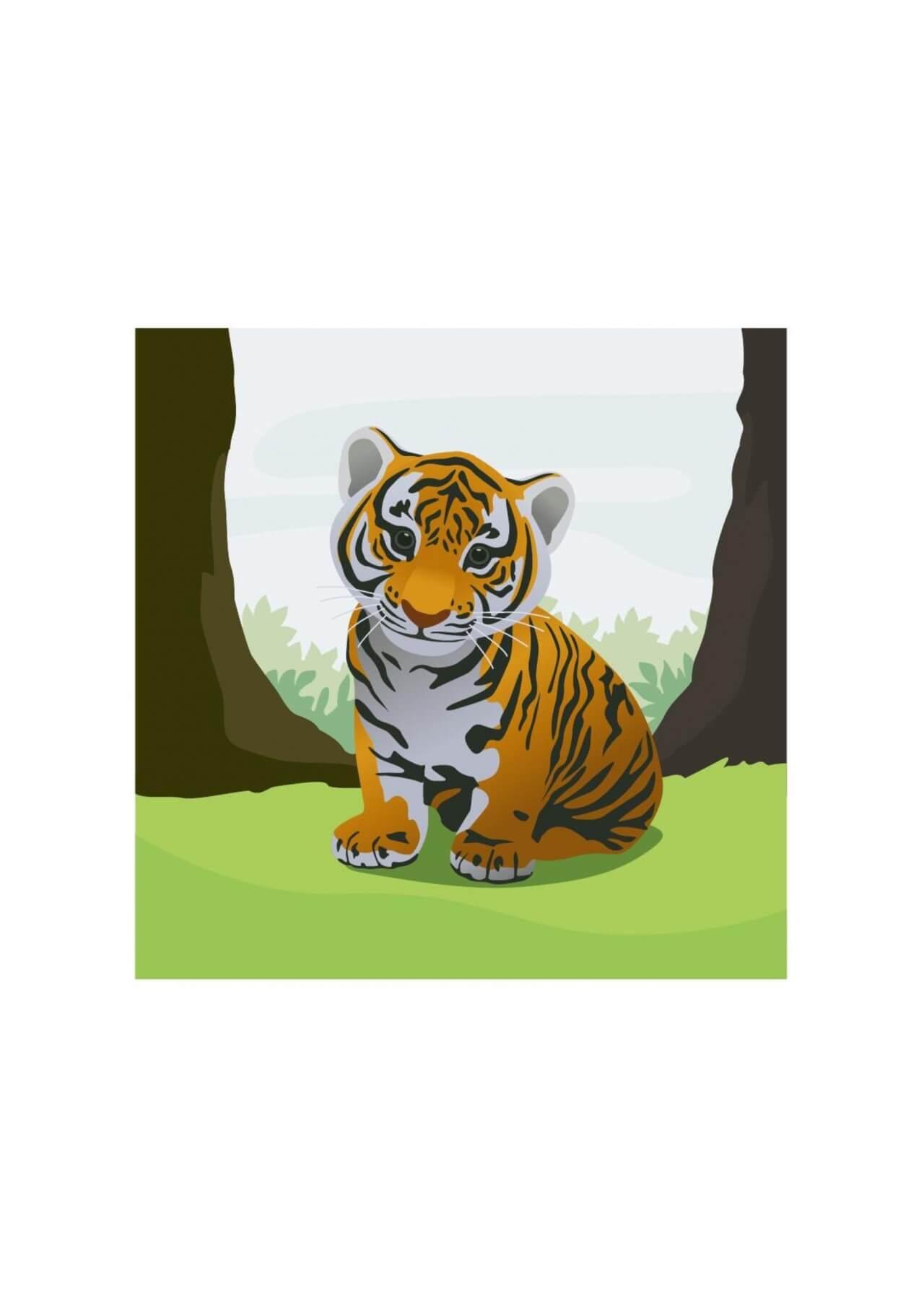 """Free vector """"Cute tiger"""""""
