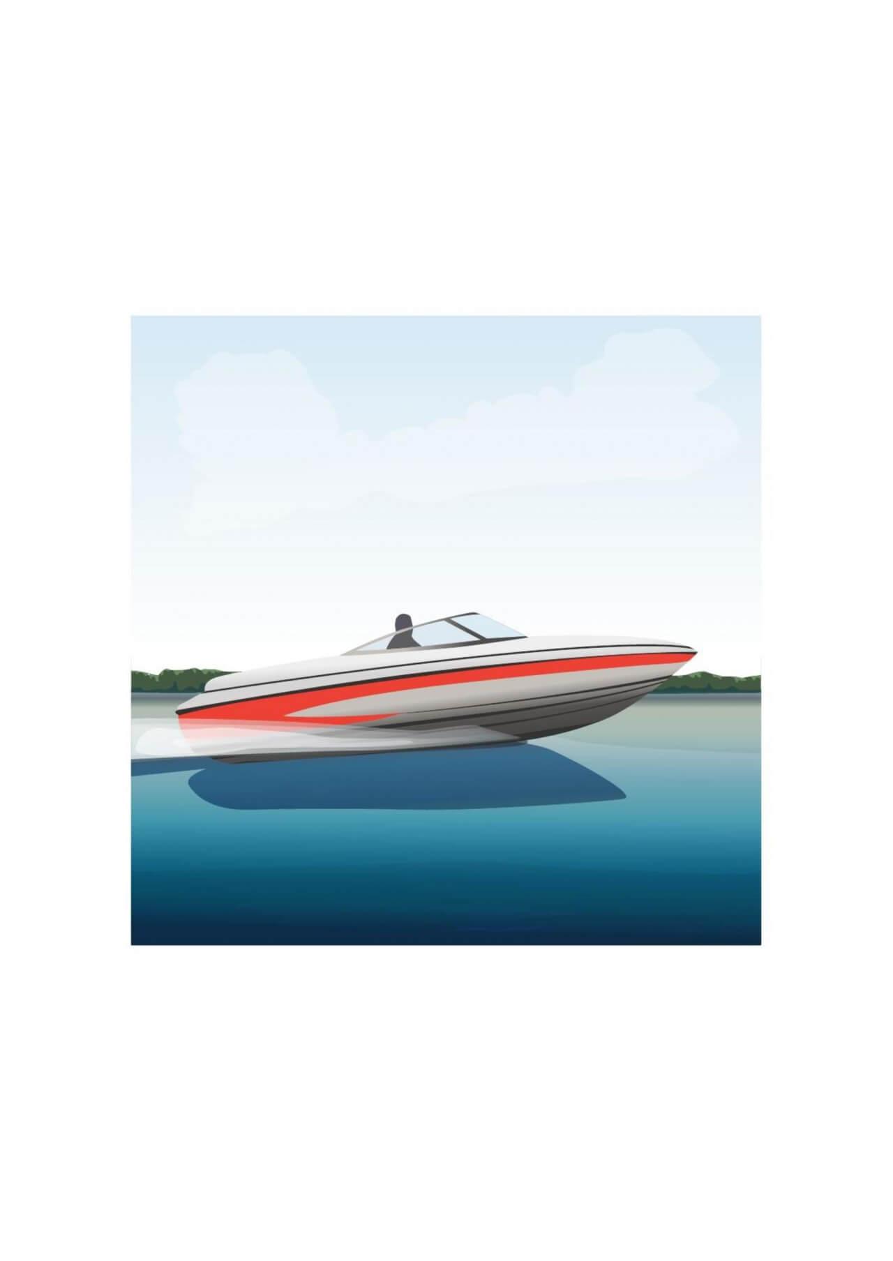 """Free vector """"Speedboat"""""""