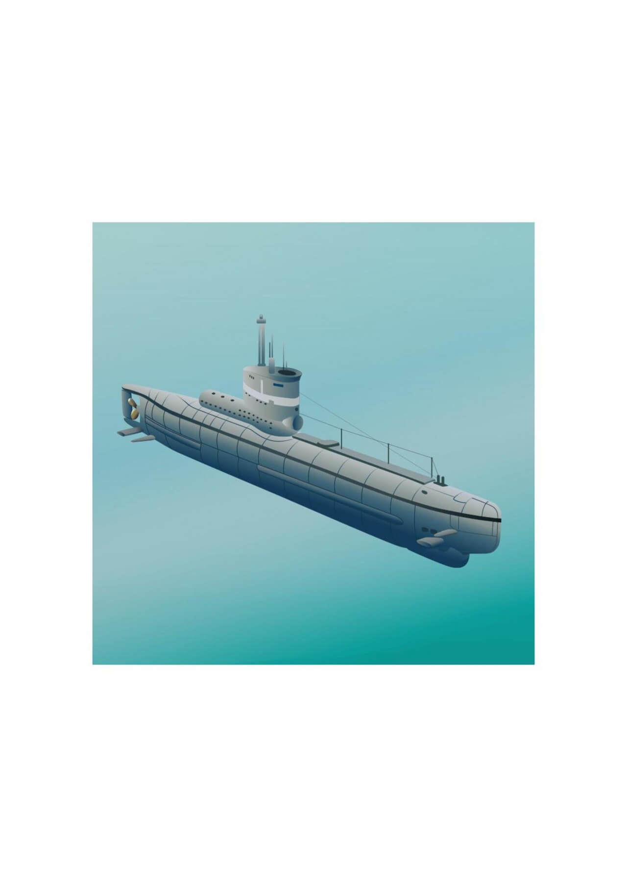"Free vector ""Submarine"""