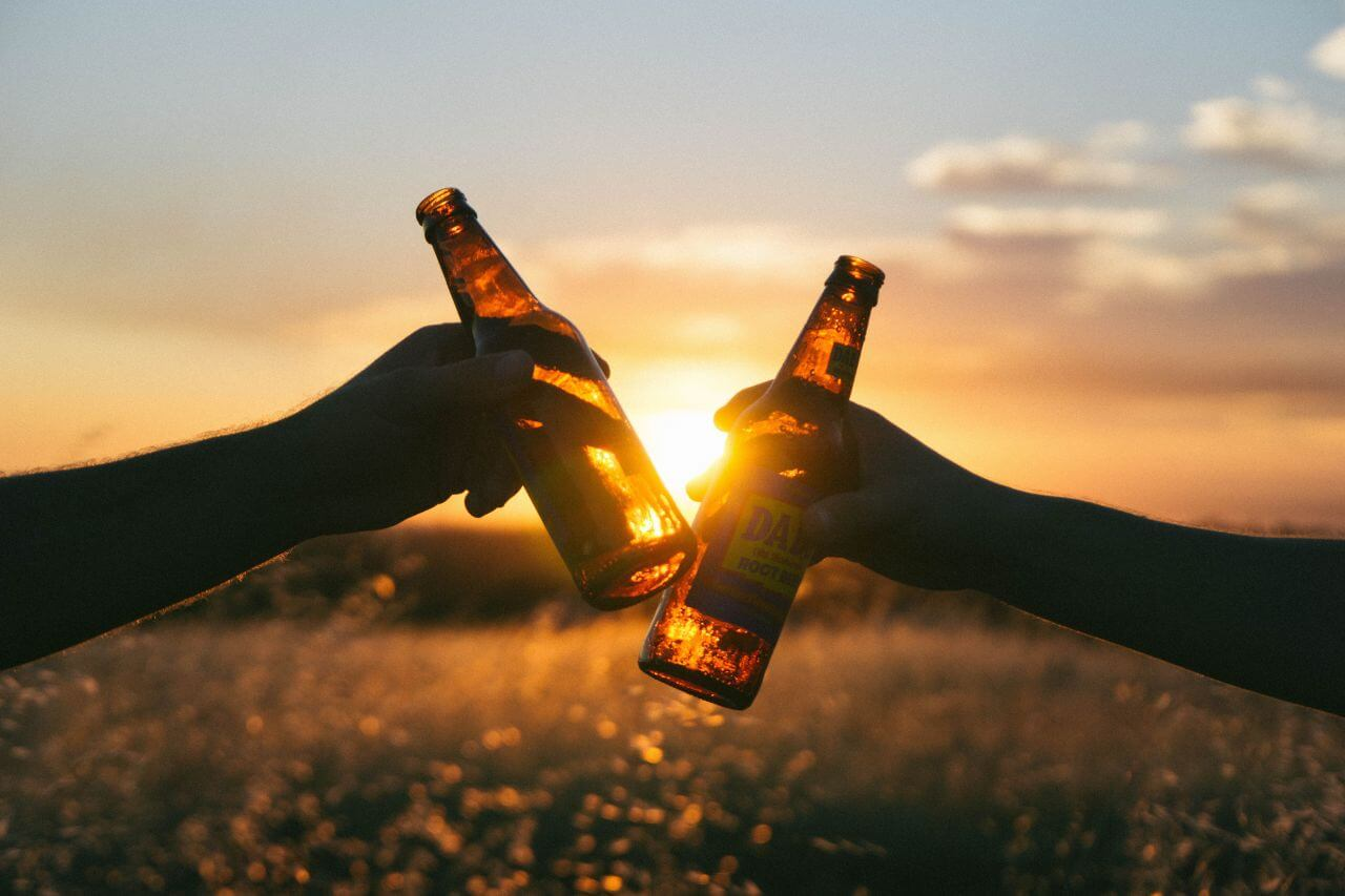"Free photo ""Beer Sunset Field"" by Wil Stewart"
