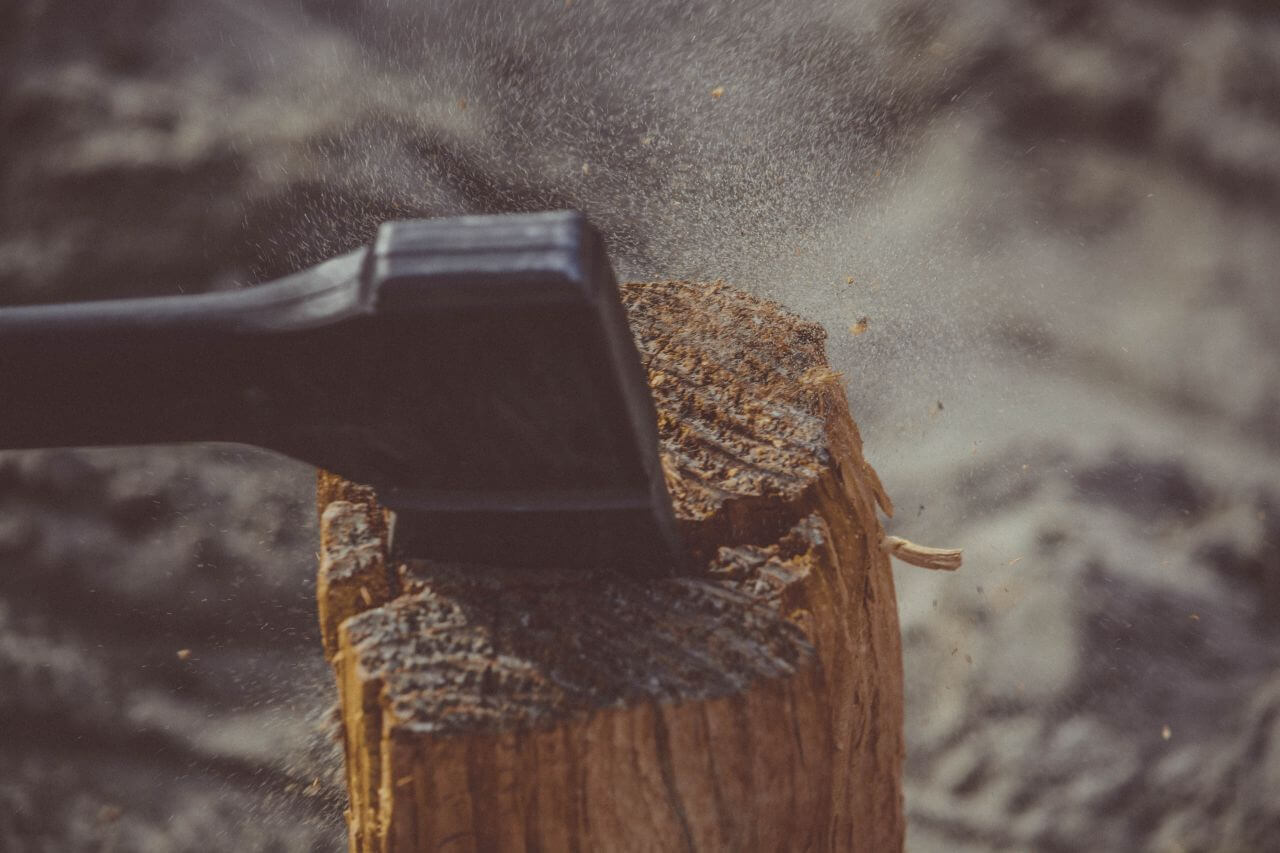 """Free photo """"Axe Chopping Log Wood"""" by photo collections"""