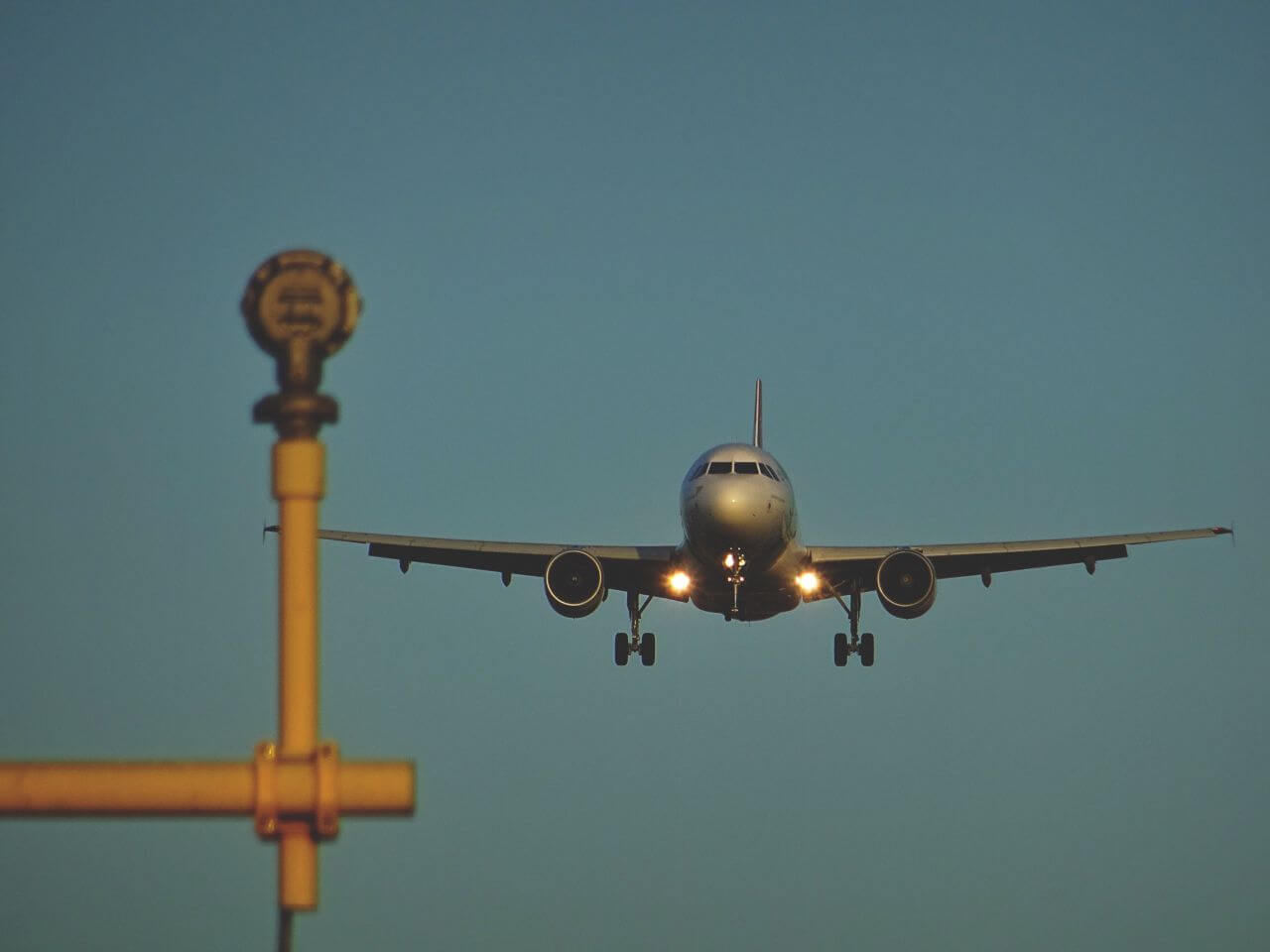 "Free photo ""Airplane Landing Airport"" by sebastian grochowicz"