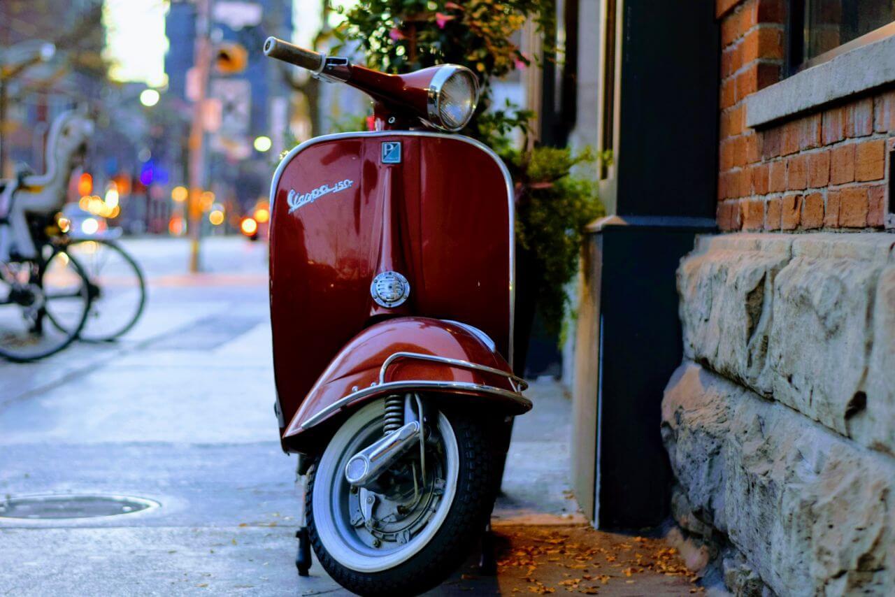 "Free photo ""Red Vespa Street"" by Tim Gouw"