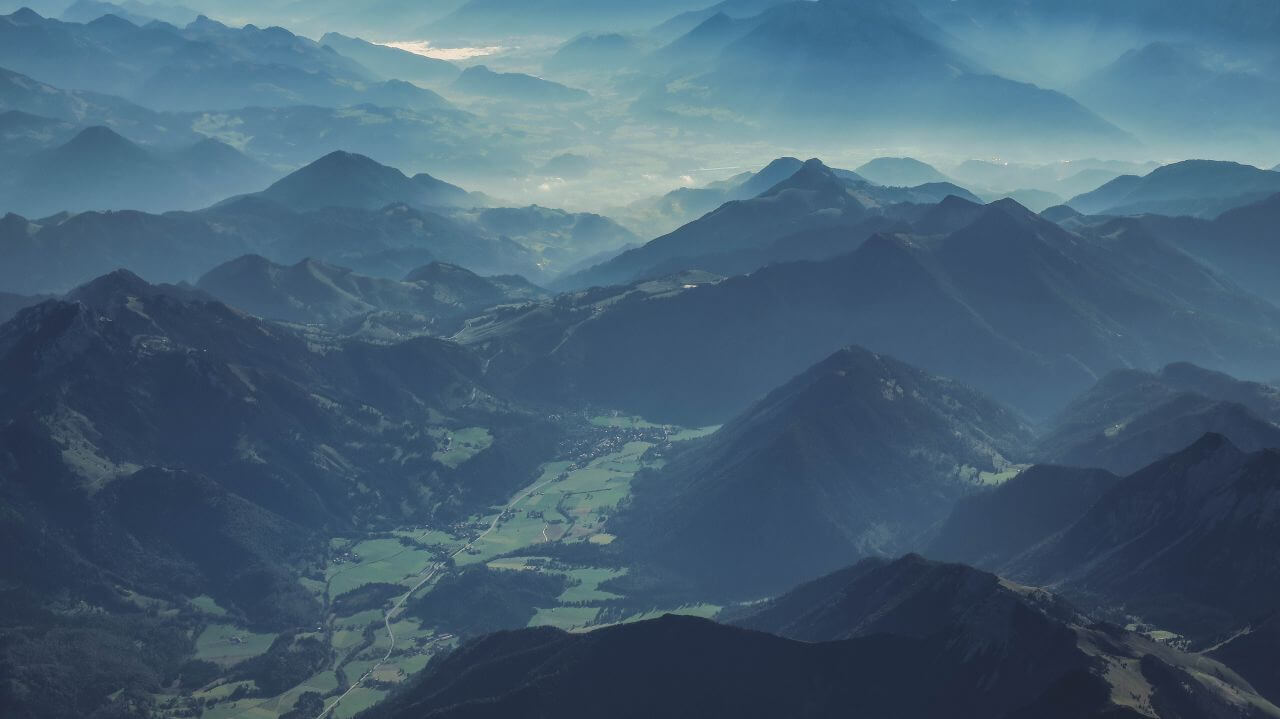 """Free photo """"Mountain Landscape Morning Mist"""" by Paul Gilmore"""
