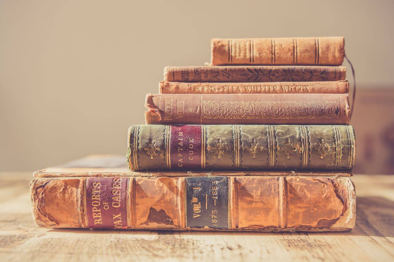 "Free photo ""Stack Antique Books"" by chris lawton"