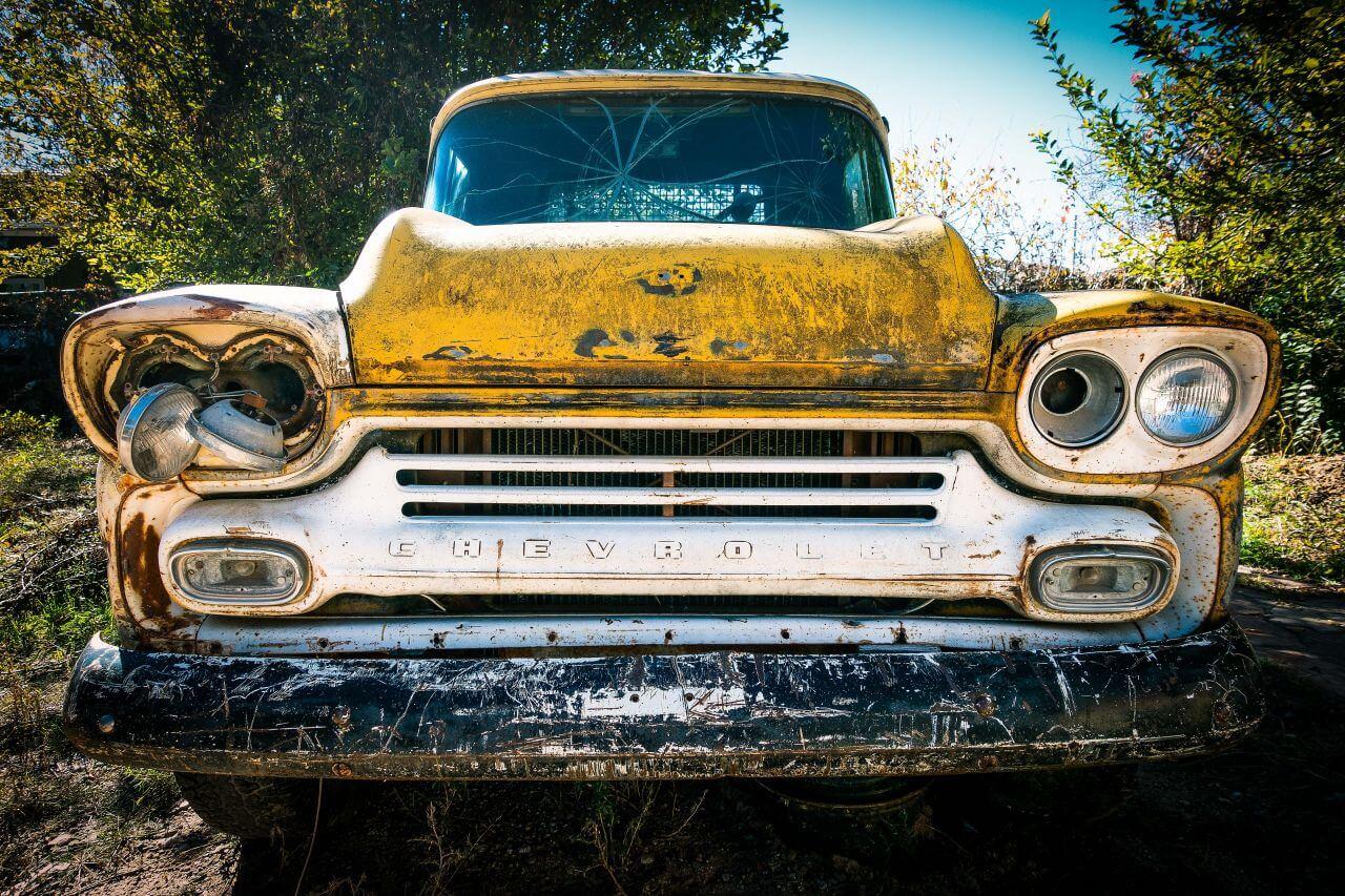 "Free photo ""Rusty Yellow Chevrolet Truck"" by rodolfo mari"