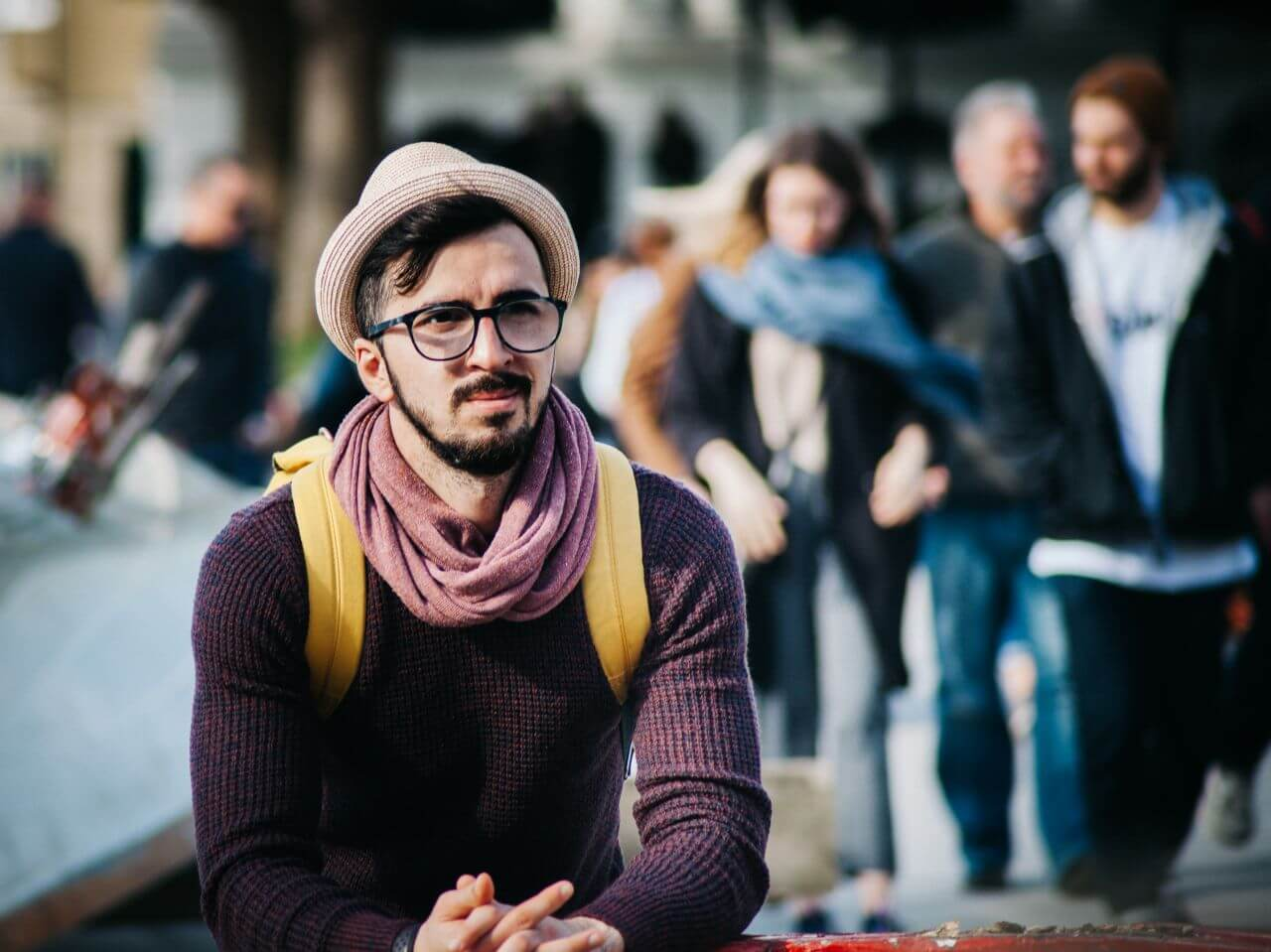 """Free photo """"Hipster Man Crowd"""" by clem onojeghuo"""