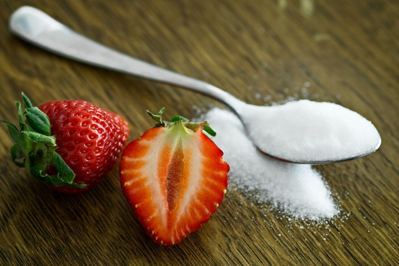 "Free photo ""Strawberries Spoon Sugar"" by Mali Maeder"