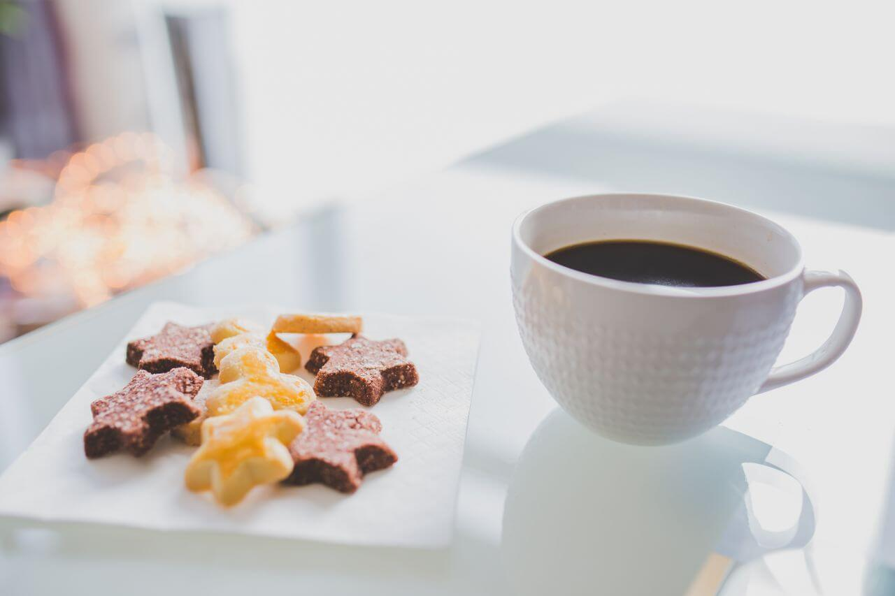 "Free photo ""Star Shaped Cookies Coffee"" by NegativeSpace"