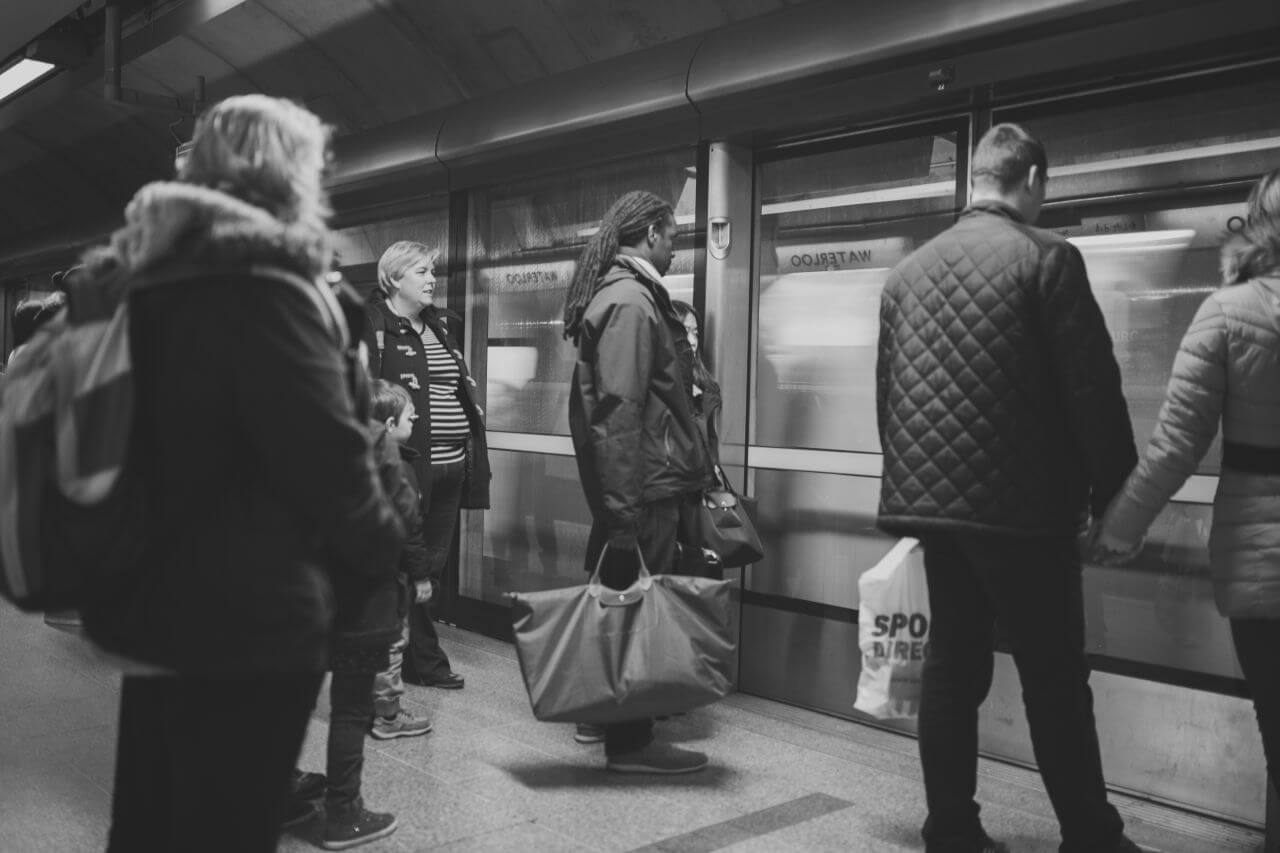 """Free photo """"People Waiting at Train Station"""" by NegativeSpace"""