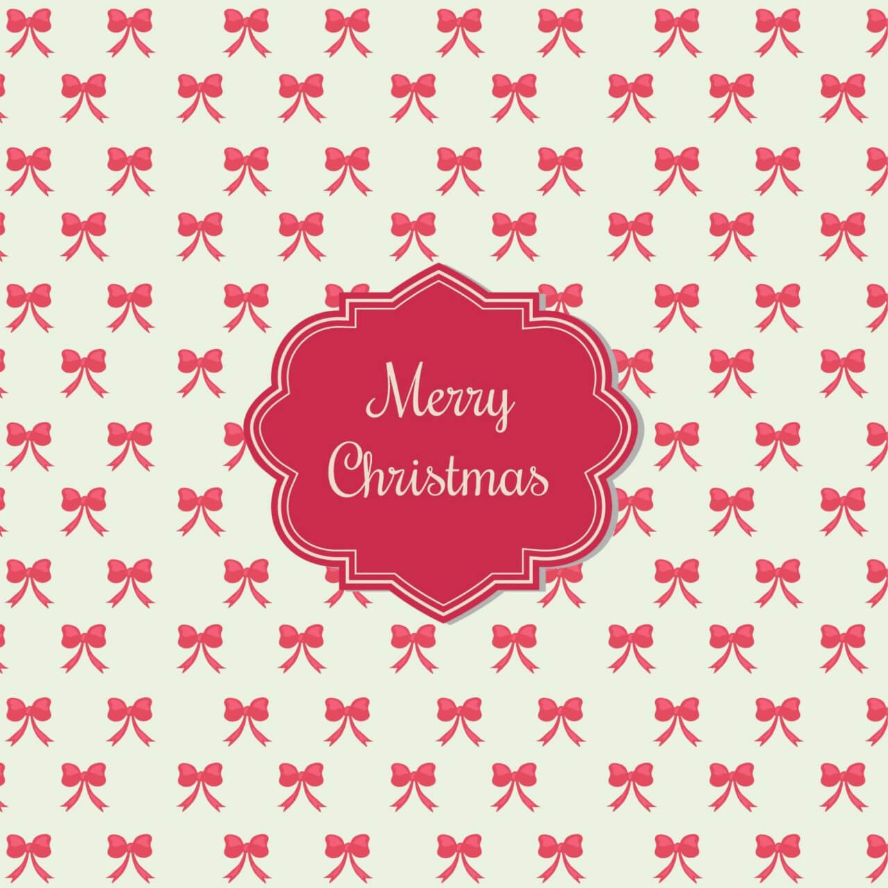 "Free vector ""Christmas background with badge"""