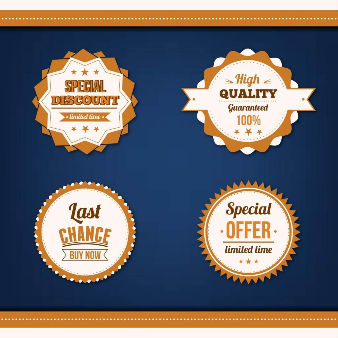 "Free vector ""Sale badges vector set"""