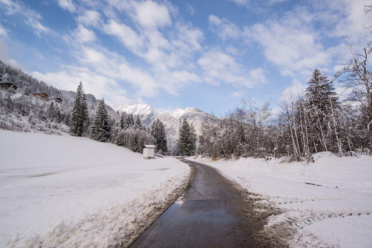 "Free photo ""Road in the winter in Austria"""