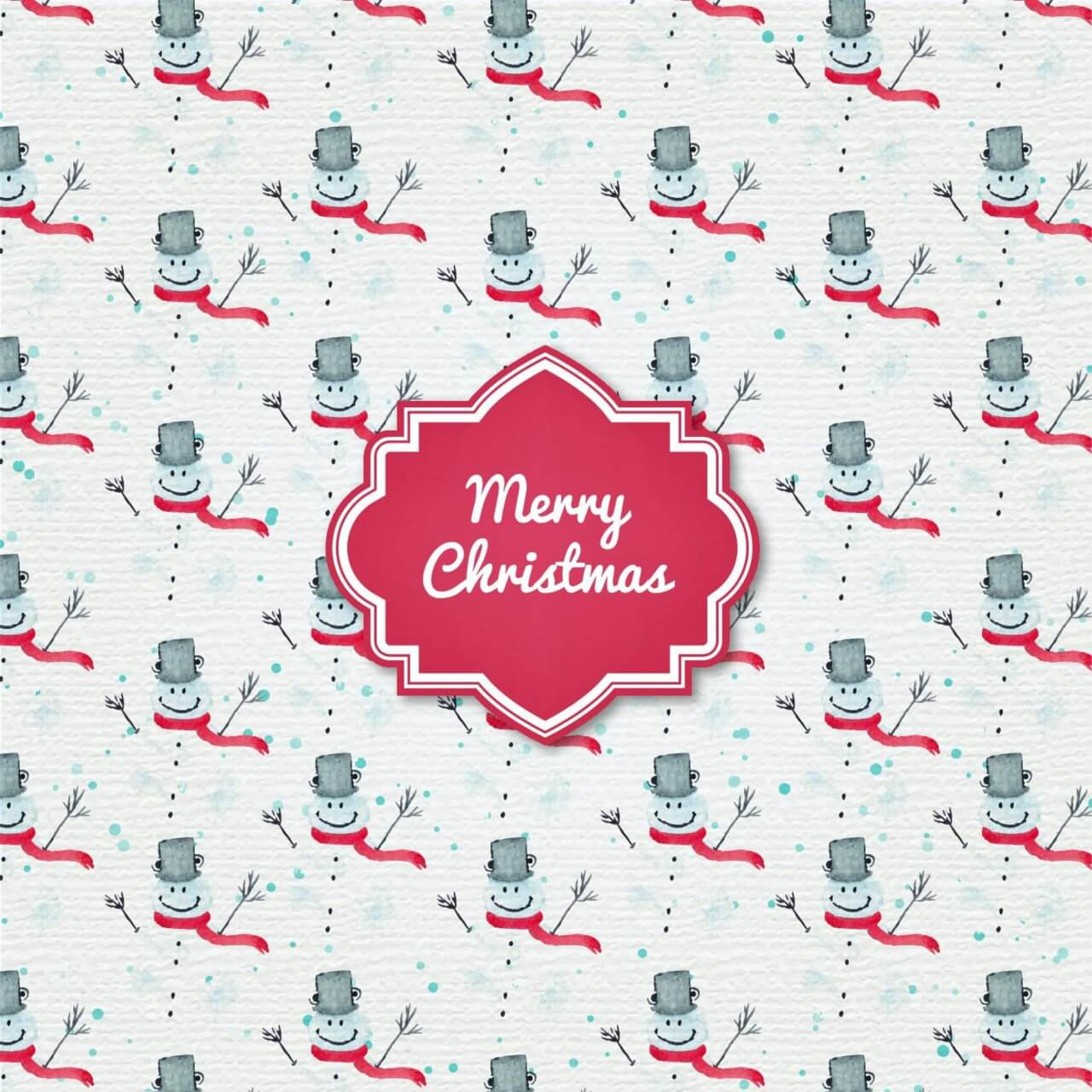 """Free vector """"Christmas background with badge and santa"""""""