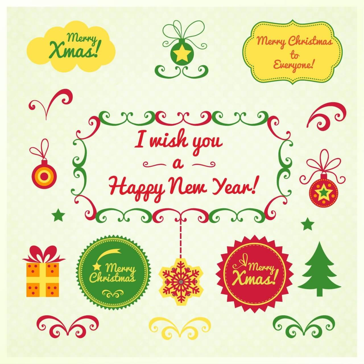 "Free vector ""Christmas elements"""