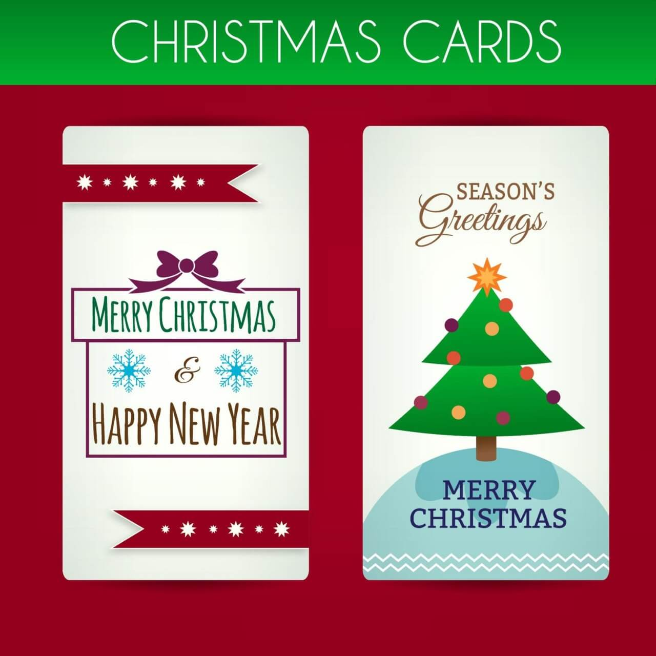 "Free vector ""Christmas cards"""