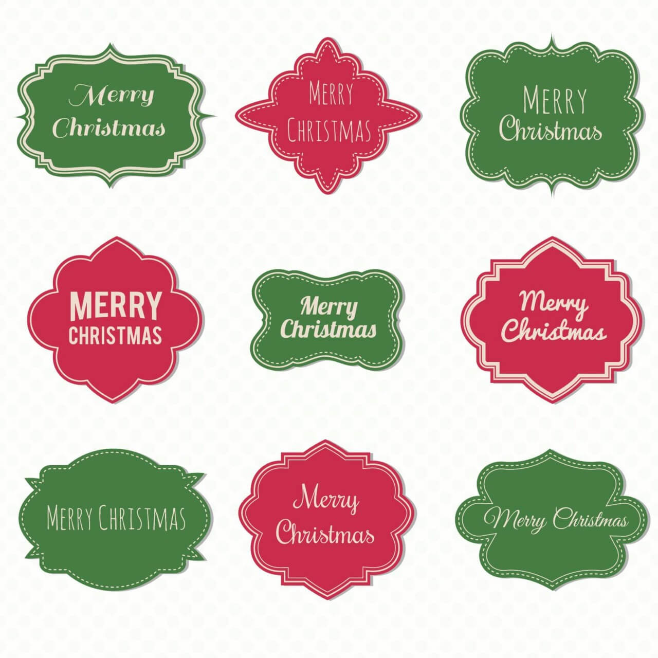"Free vector ""Christmas label set"""