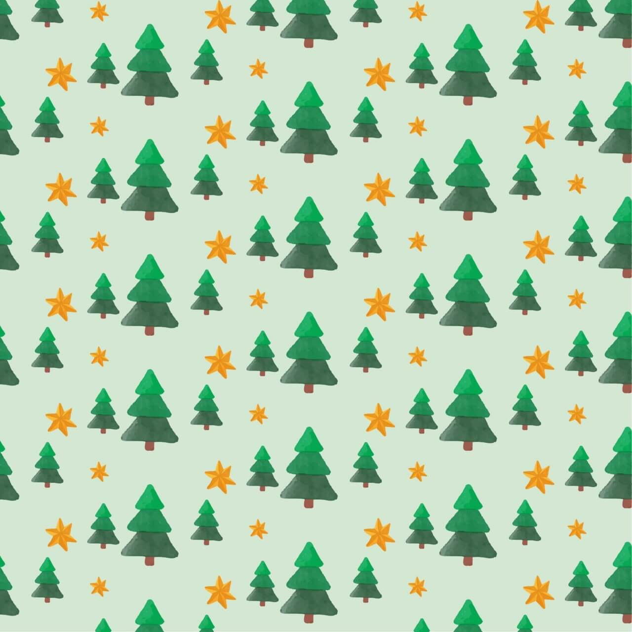 "Free vector ""Christmas pattern with trees and stars"""