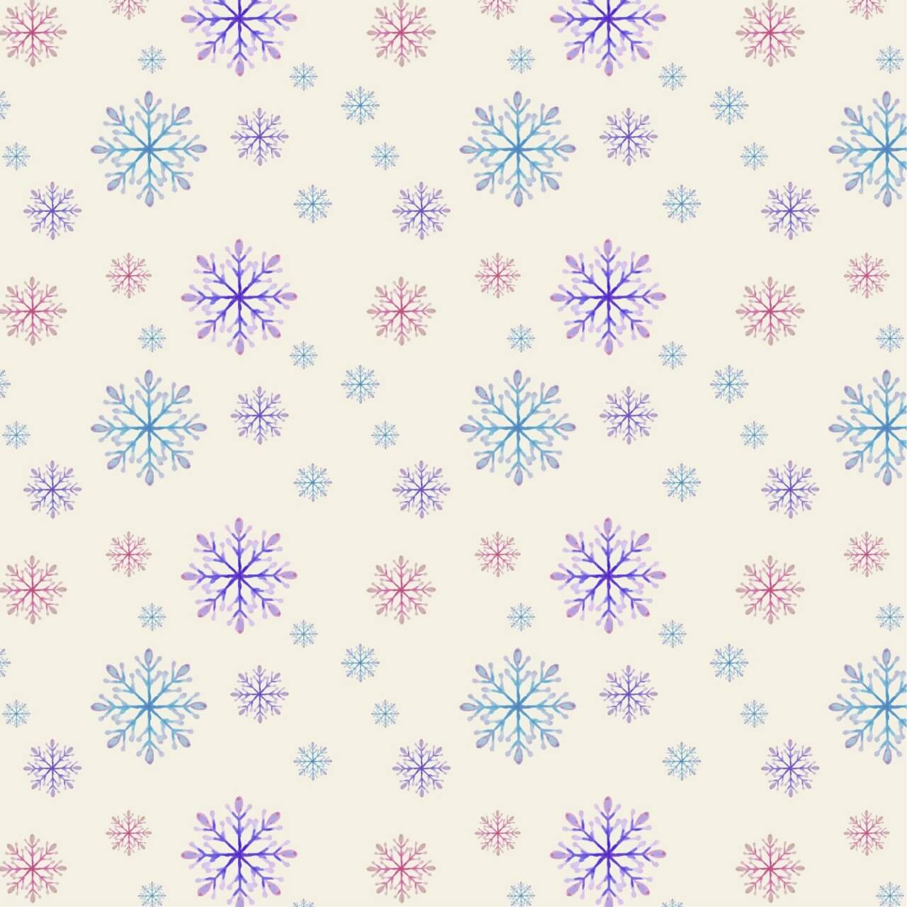 "Free vector ""Christmas pattern with snowflakes"""