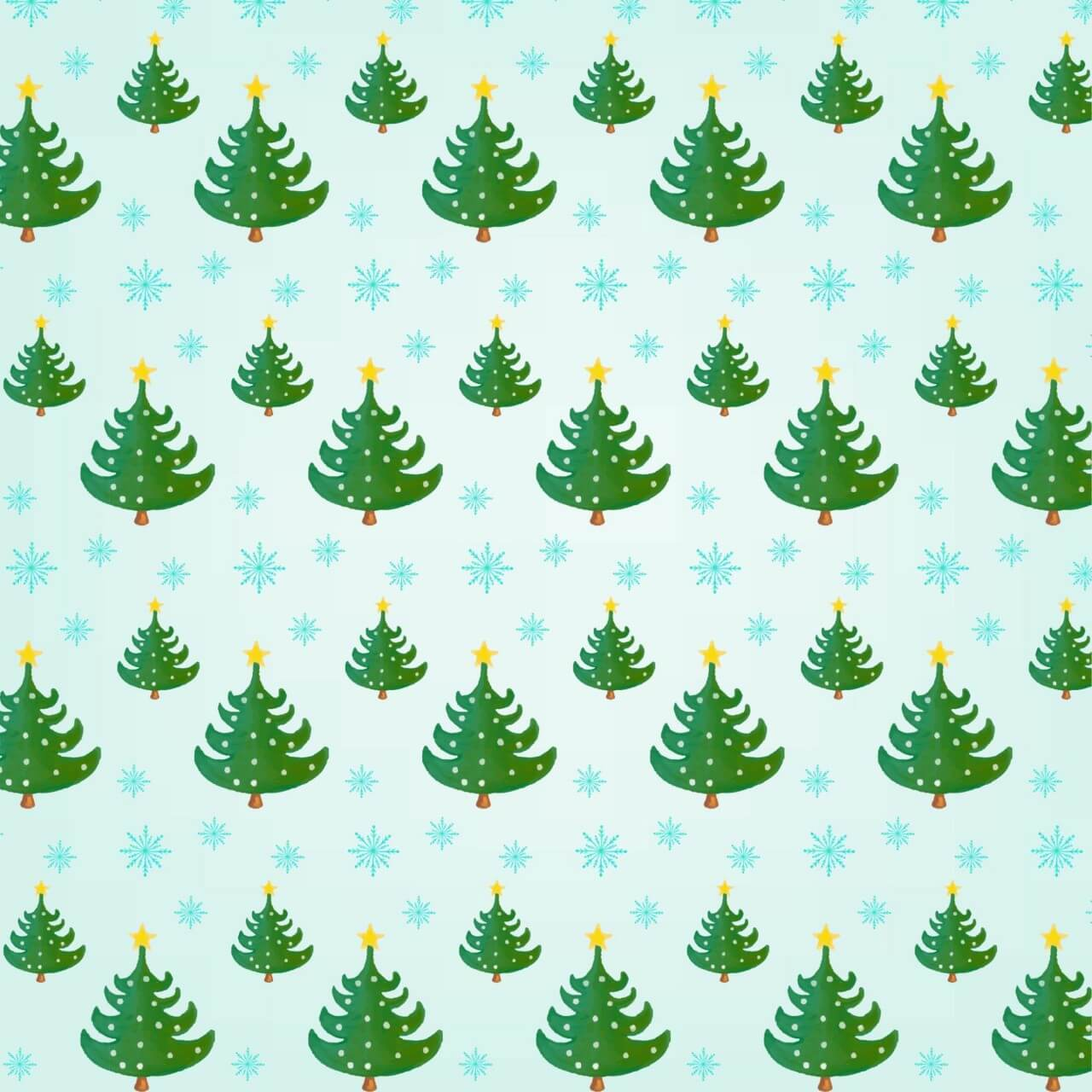 """Free vector """"Christmas pattern with Christmas trees"""""""