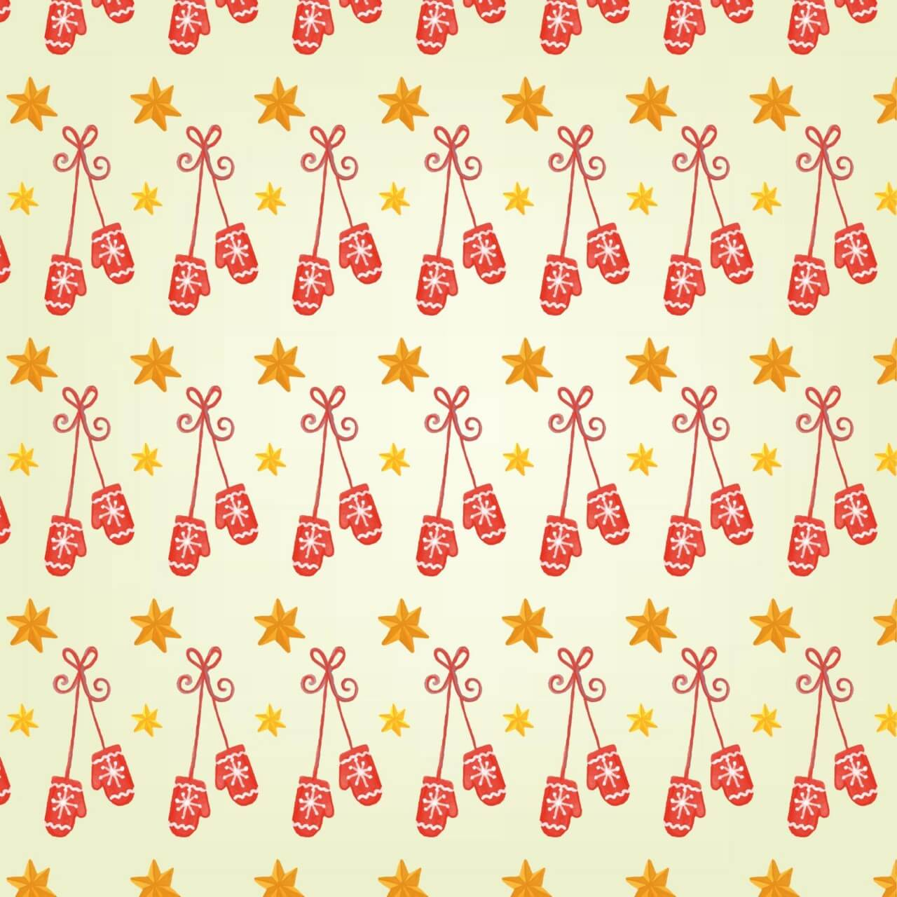 "Free vector ""Christmas pattern with gloves"""