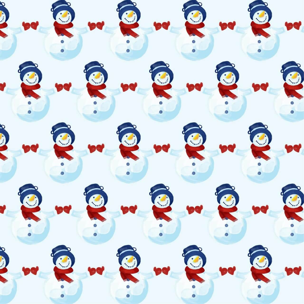 "Free vector ""Christmas pattern with snowman"""