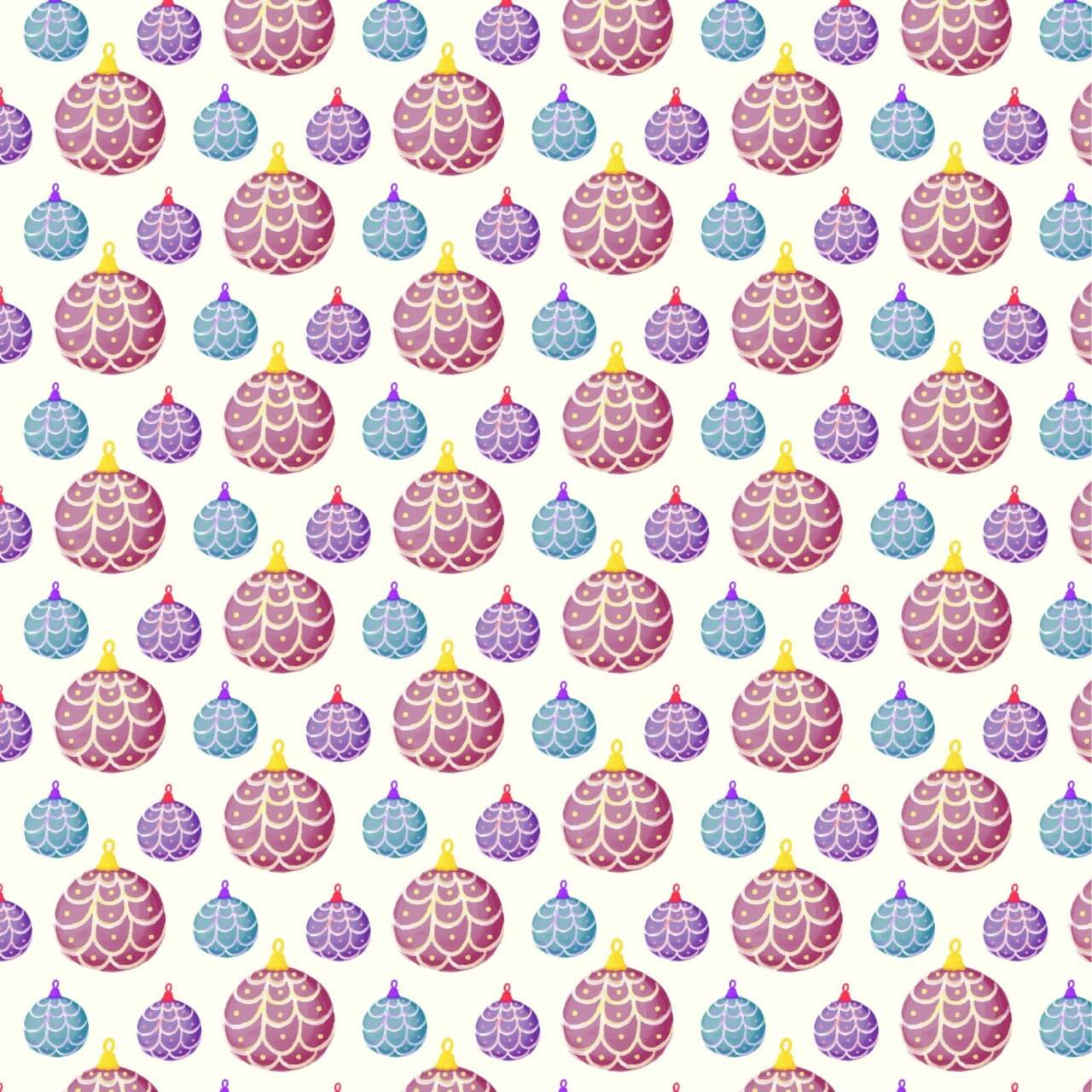"Free vector ""Christmas pattern with balls"""