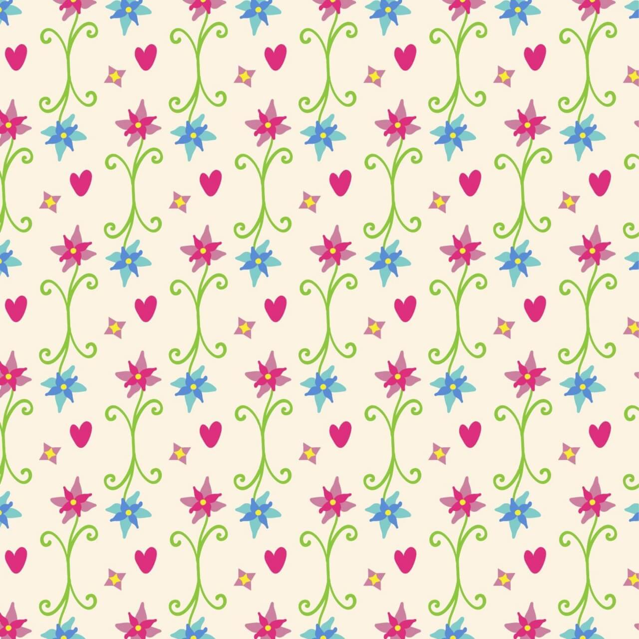 "Free vector ""Spring pattern"""