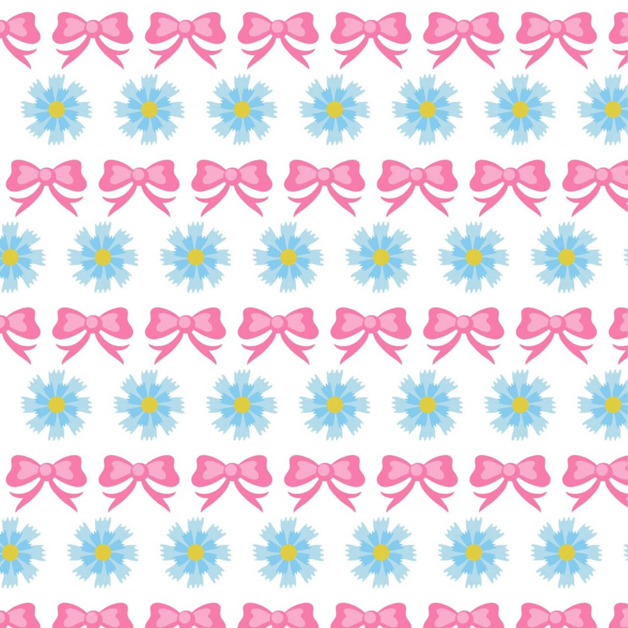 "Free vector ""Floral pattern with bow"""