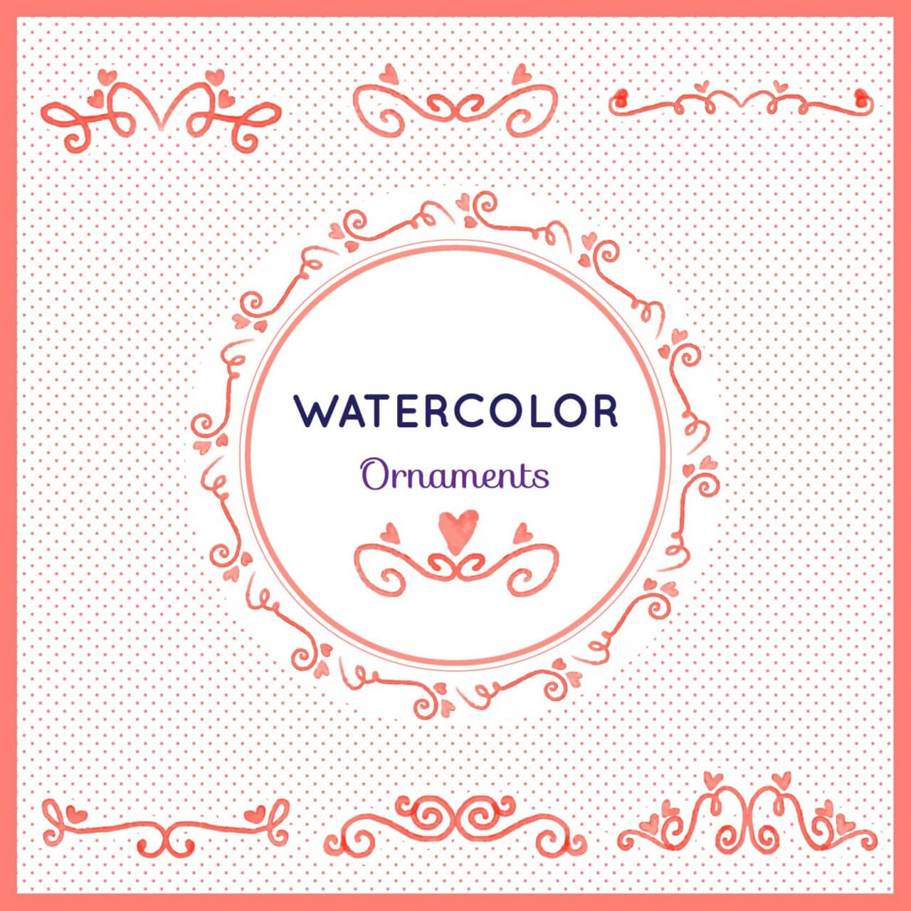 "Free vector ""Watercolor set of ornamnets"""