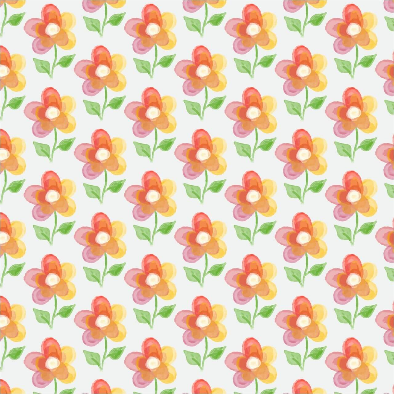 "Free vector ""Floral background with watercolor flower"""