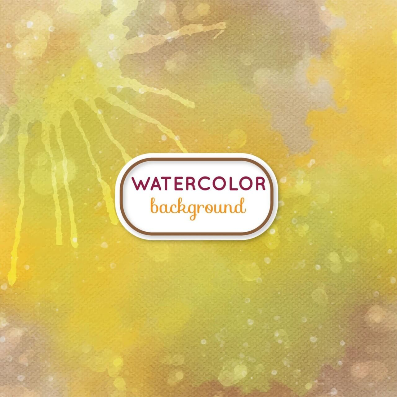 "Free vector ""Watercolor background with frame"""