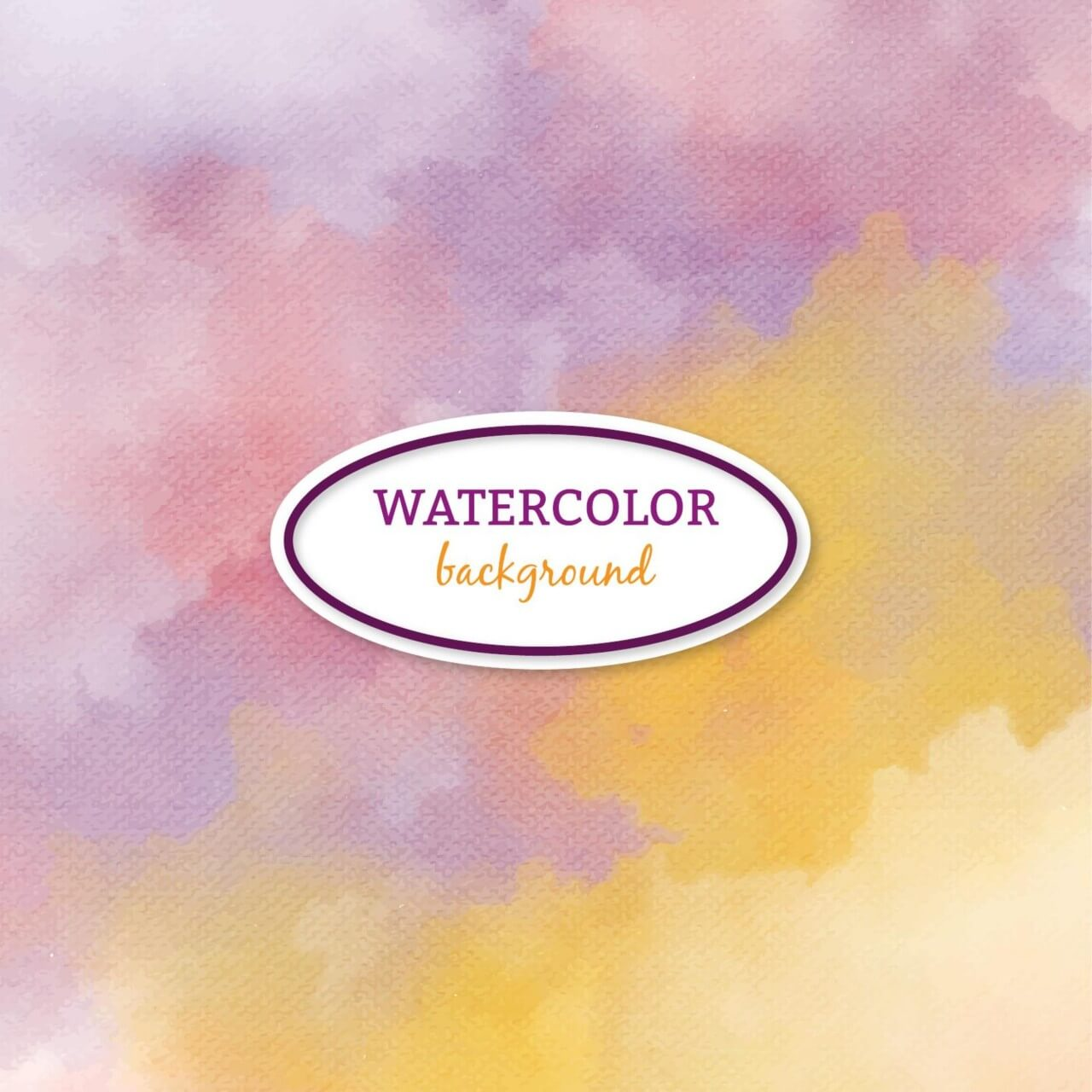 """Free vector """"Watercolor background with frame"""""""