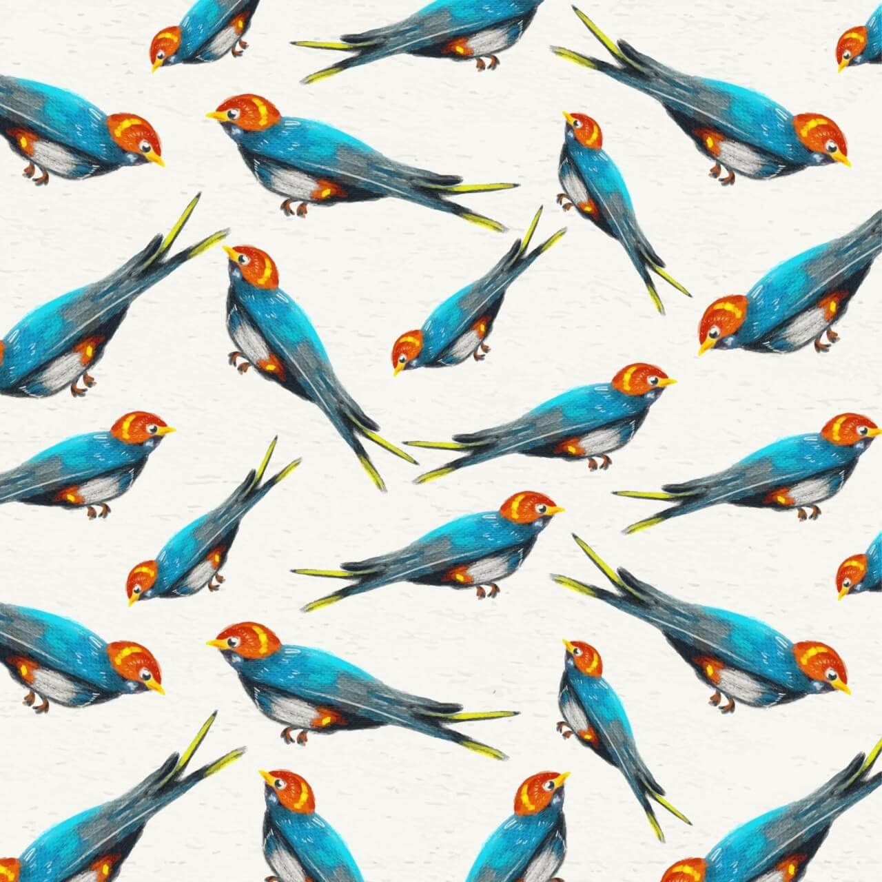 """Free vector """"Watercolor background with sparrows"""""""
