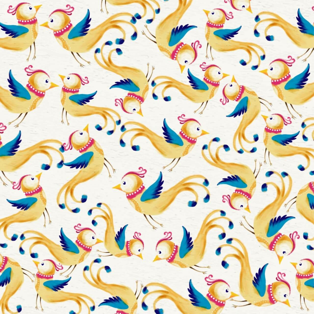 "Free vector ""Watercolor background with cute birds"""