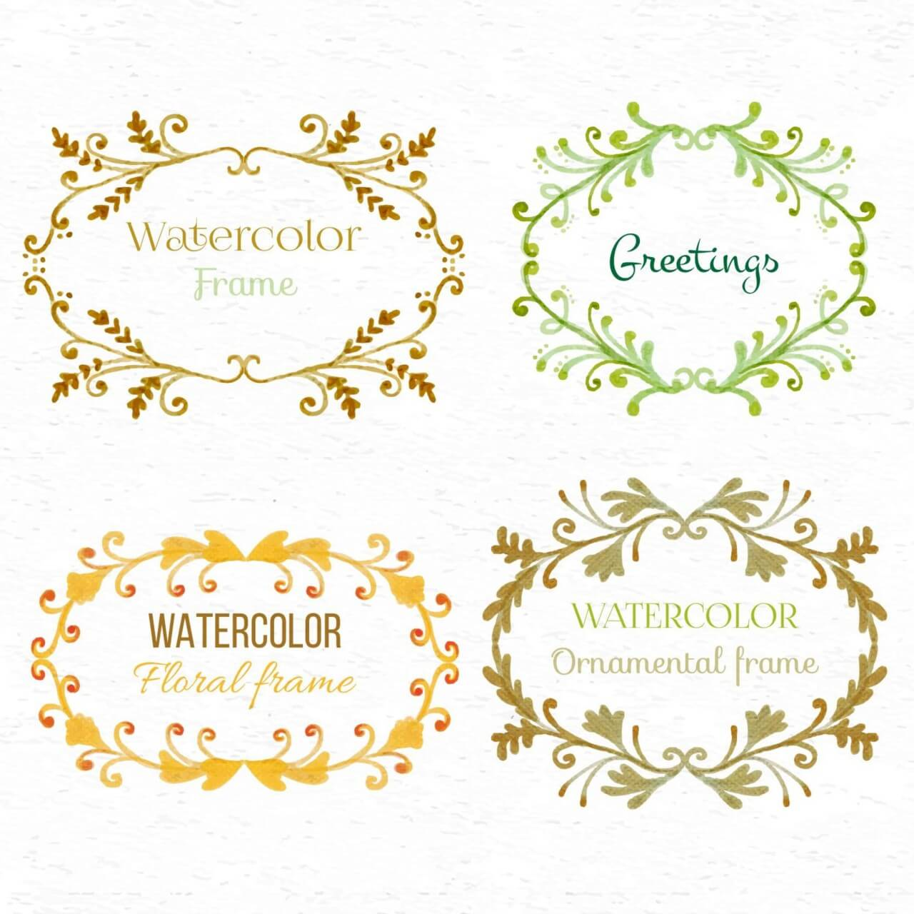"Free vector ""Watercolor set of frames"""